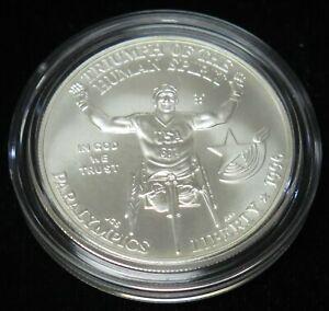 1996-D Uncirculated Atlanta Olympics $1 Paralympics Silver Dollar Coin