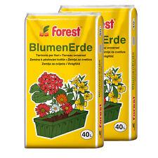 Blumenerde 2 Sack á 40 Liter = 80 Liter NEU+OVP Qualitäts Gartenerde Pflanzerde