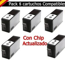 5x cartuchos Negro para hp-364xl d5460 d7560 b109d b109f c5324 c6324 d5463 d5468
