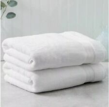 "2 Charisma Luxury Cotton Bath Towel 30"" x 58"" 100% Hygro Cotton White NWT Set"
