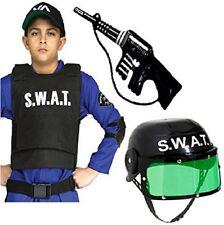 Boys Girls Clothing Kids SWAT Vest Helmet and Inflatable Gun Fancy Dress Unisex