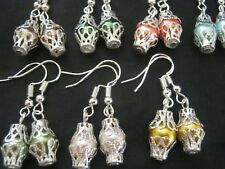 10 Pairs of  CAGED Multi Colour GLASS PEARL Bead Earrings NEW Fashion Jewellery