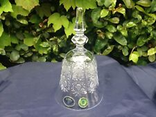 "Bohemia Queen Lace Hand Cut 24% Lead Crystal Bell 6"" Mint Nib"