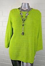 Women's ALLISON DALEY SWEATER Size 3X  Novelty Knits NEON GREEN   NWT