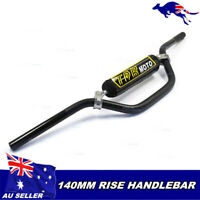 "Black 7/8"" 22mm Motorcycle MX Enduro Chopper Cafe Racer Dirt Handlebars + Pad"