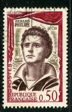 STAMP / TIMBRE FRANCE OBLITERE N° 1305 / CELEBRITE / GERARD PHILIPPE