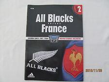 All Blacks V la Francia. Rugby. NUOVA Zelanda Wellington, Giugno 2007.