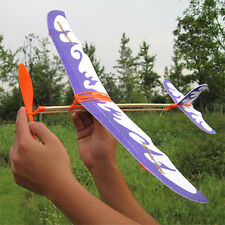 Glider Rubber Band Elastic Powered Flying Plane Airplane Fun Model Kid Toy Hot