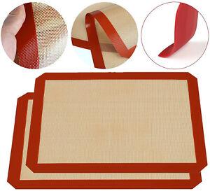 2x Backmatte Silikon Grillmatte Teigmatte Antihaft Teigunterlage Ausrollmatte
