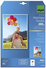 Sigel® Inkjet Fotopapier Everyday, hochglänzend, 200 g/qm, A4, 20 Blatt