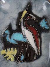 Großer RUSCHA Wandteller, Schale, 1950ties Keramik, West German Pottery, 1A