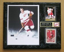 "Detroit Red Wings Gordie Howe - Color Rookie Photo Plaque 12"" x 15"""