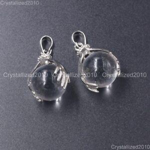 Natural Mix Gemstone Hands Palm Ball Round Reiki Chakra Pendant Necklaces Beads