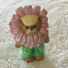 Lucy & Me Flower Bear Figurine Lucy Rigg Made in 1989
