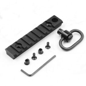 5 Slot Picatinny Rail Keymod Section 2.44 Inch Sling Adapter 1.25 Inch For Gun