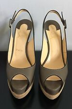 Authentic Christian Louboutin Slingback Platform Peep Toe Heels