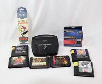 Sega Genesis Model 3 System Console + AV & Power Supply + 6 Games Lot Bundle