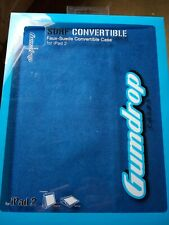 Gumdrop Surf Convertible Faux Suede Flip Stand Protective Case for iPad 2 - Blue
