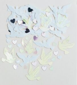 Wedding Doves | Hearts | Wedding Table Confetti | Foiletti Decoration 14-84g