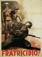 PROPAGANDA WWII ITALY FRATRICIDE DESERTER LAUGH SOLDIER POSTER ART PRINT BB2810A