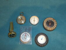 COMPASS COMPASSES  BOY SCOUTS ARMY SWEDEN FRANCE SILVA SYSTEM  6 TOTAL