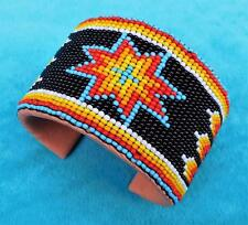 """SIOUX STAR"" NATIVE AMERICAN INDIAN BEADED CUFF BRACELET"