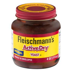 FLEISCHMANN'S ACTIVE DRY YEAST JAR 4 oz ORIGINAL FLEISCHMANS EXP: 05/22 BAKING