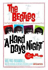 The Beatles * Hard Days Night * USA  Movie Promotional Poster Window Card 1964
