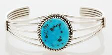 Silver with Turquoise Bracelet Native American Handmade Sterling