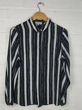 Papaya Monochrome Stripe Blouse Shirt Size UK 14