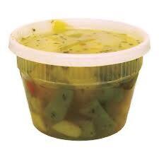 Case of 240 Plastic Deli Food Container 16 oz / DeliTainer with Lids