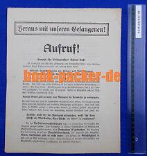 Original Flugblatt (1919): HERAUS MIT UNSEREN GEFANGENEN! [WW1/WKI POW]