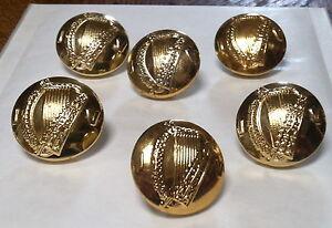 Irish  Army Irish Volunteer IV 6 Old Buttons Large size S/Bright