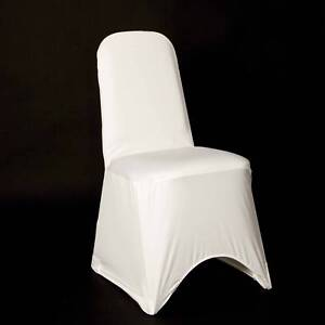 WHITE SPANDEX CHAIR COVERS BRAND NEW PREMIUM 220gsm SPANDEX UK SELLER