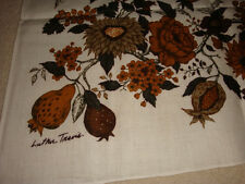 Vintage Tablecloth + 6 Napkins NIB Brown LUTHER TRAVIS 'SAYBROOK' FALLANI & COHN
