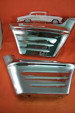 1956 Chevy Chrome Fender Extensions Wrap Arround Sedan Hardtop Nomad Convertible