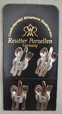 Silver Metal Cutlery 1.917/0  Reutter  miniature dollhouse 1/12 scale 12pc