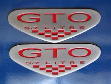 2004 Pontiac GTO LS1 5.7 Litre V8 Engine Shield Fender Badge Pair (6 colors)