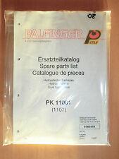 Ersatzteilliste Palfinger PK 11001 1107 Hydraulik Ladekran 1997 hydraulic crane
