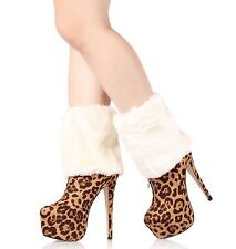 Sexy Legging Socks Cute Faux Fur Ankle Leg Warmers Fluffies Shoes Sleeve Cover