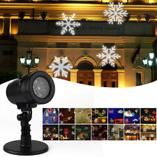 14 Scene graph Waterproof Projector Projection Lights Rotating For Festival&Xmas