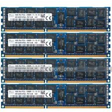 Hynix 64GB 4x16GB 2RX4 PC3L-12800R DDR3 1600MHz 240Pin ECC REG Server Memory RAM