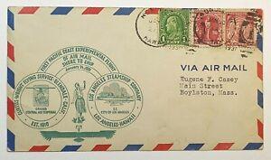 1931 First Pacific Coast Experimental Flight Shore to Ship LA Steamship Company