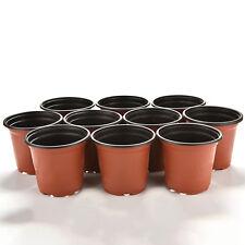10 Small Plastic Round Flower Pot Terracotta Nursery Planter Home   Decor IO