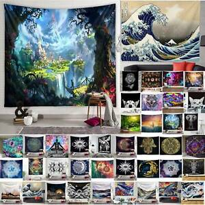 Large Wall Hanging Landscape Indian Throw Tapestry Bedspread Blanket Home Decor