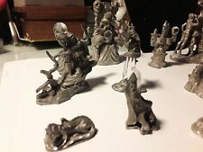 Wow WowCuter and Spoontique Pewter Vintage Collection Wizard, figurines.