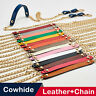 REAL LEATHER Chain Strap Shoulder Crossbody Bag Handbag Purse Replacement NEW