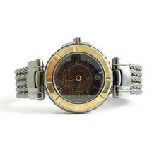 Philippe Charriol Stainless Steel Gold Bezel Women's Watch, Cable Strap