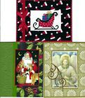 Handmade CROSS STITCH  and REGULAR CHRISTMAS CARDS #CX-Q-Lot of 3