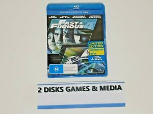FAST & FURIOUS 4 BLU RAY (PAUL WALKER, VIN DIESEL)
